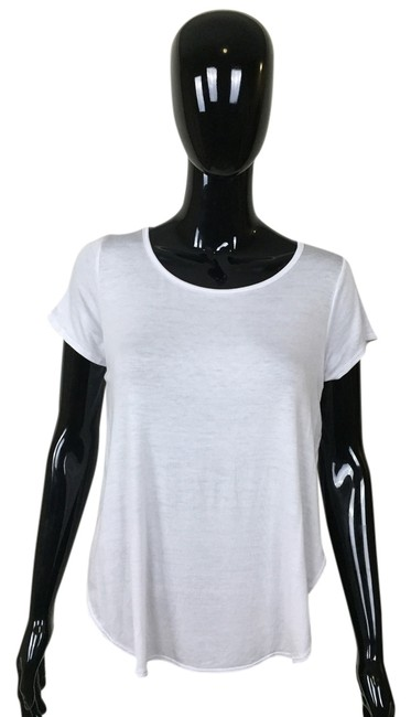 Other Sleeve High Low T Shirt White
