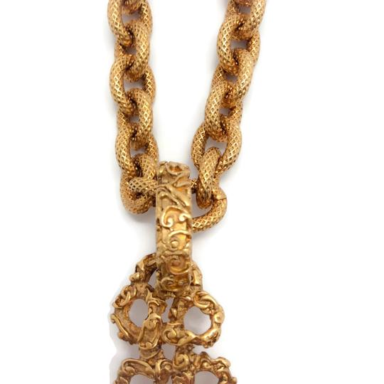 Chanel Vintage 1993 Gold Cross with Pearl Image 3