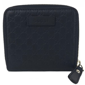 Gucci NEW GUCCI 449395 Microguccissima Leather Midnight Wallet, Blue
