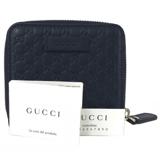 Gucci NEW GUCCI 449395 Microguccissima Leather Midnight Wallet, Blue Image 4