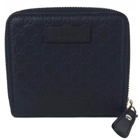 Gucci NEW GUCCI 449395 Microguccissima Leather Midnight Wallet, Blue Image 11