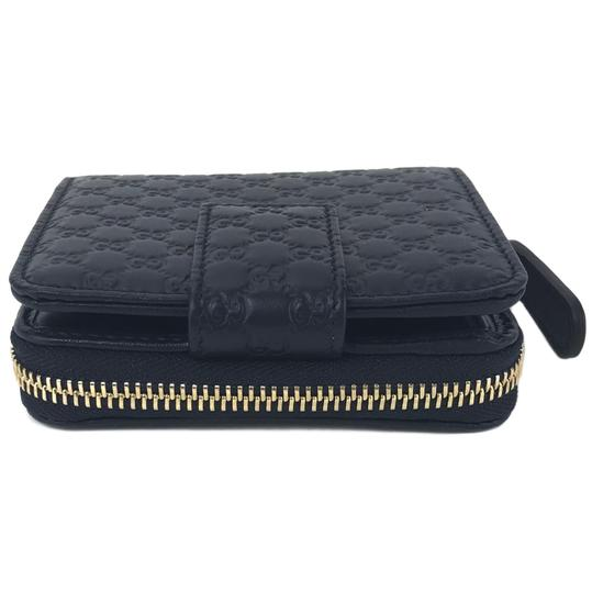 Gucci NEW GUCCI 449395 Microguccissima Leather Midnight Wallet, Blue Image 5
