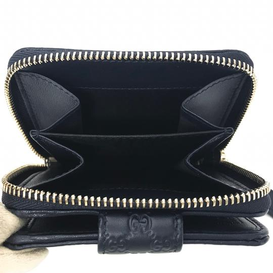 Gucci NEW GUCCI 449395 Microguccissima Leather Midnight Wallet, Blue Image 7