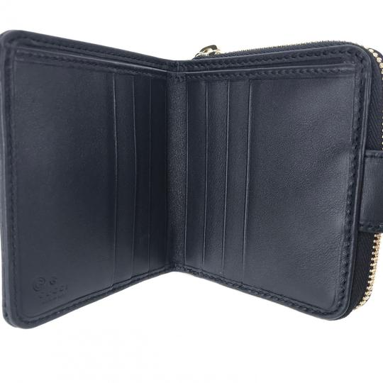 Gucci NEW GUCCI 449395 Microguccissima Leather Midnight Wallet, Blue Image 8