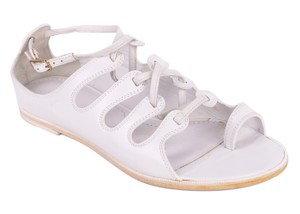 Givenchy Toe Ring Leather White Sandals
