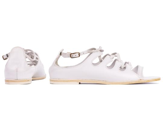Givenchy Toe Ring Leather White Sandals Image 1