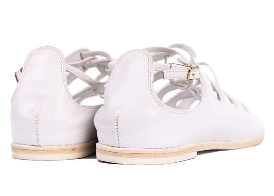 Givenchy Toe Ring Leather White Sandals Image 2
