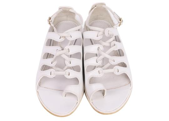 Givenchy Toe Ring Leather White Sandals Image 3