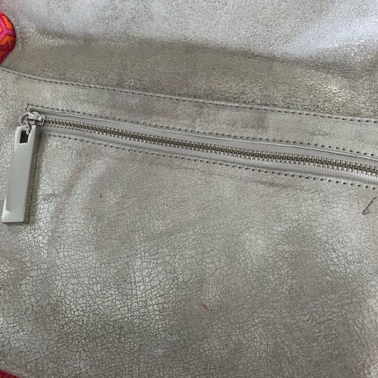 Tory Burch silver with silver hardware Clutch Image 2