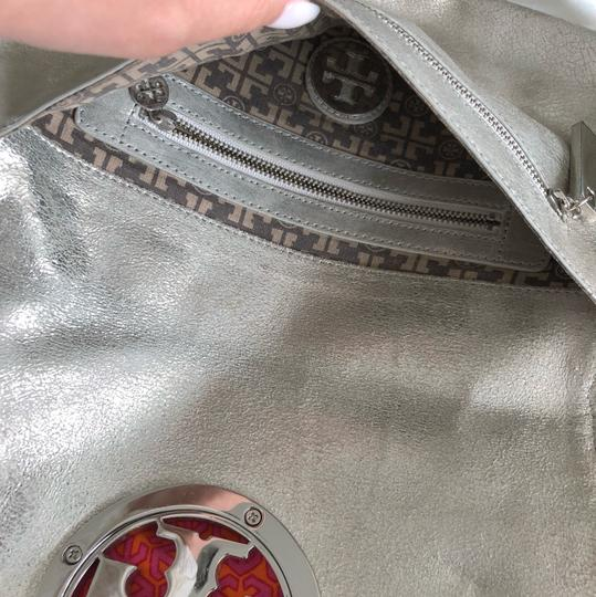 Tory Burch silver with silver hardware Clutch Image 3