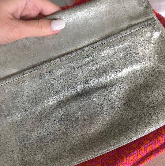Tory Burch silver with silver hardware Clutch Image 4