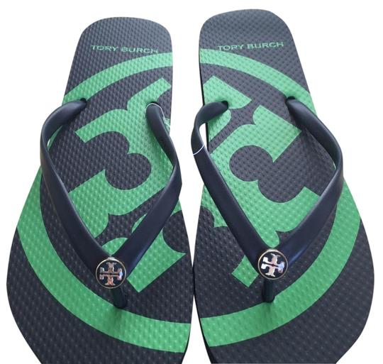 Tory Burch Navy Sandals Image 2