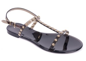 Givenchy Rubber Studded Black Sandals