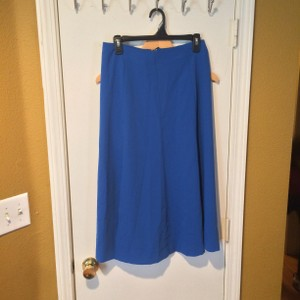 Lauren Ralph Lauren Summer Slits Long Aline Maxi Skirt blue