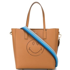 Anya Hindmarch Smily Tote in brown tan