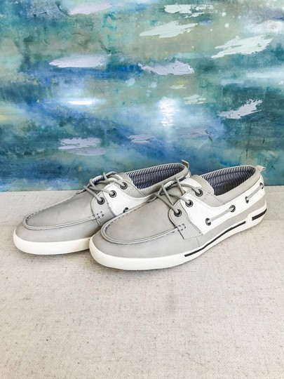 Unlisted by Kenneth Cole Anchor Shot Boat Men's 8m Grey White Athletic Image 1