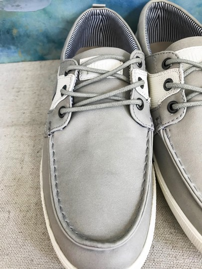 Unlisted by Kenneth Cole Anchor Shot Boat Men's 8m Grey White Athletic Image 6