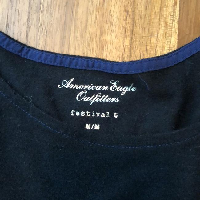 American Eagle Outfitters T Shirt Black and Blue Image 2
