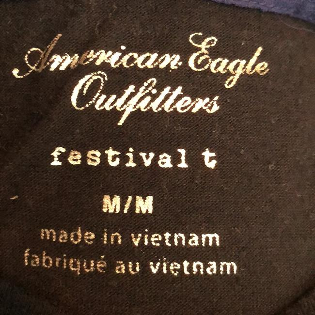 American Eagle Outfitters T Shirt Black and Blue Image 5