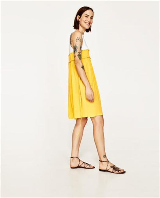 Zara short dress Yellow on Tradesy Image 1