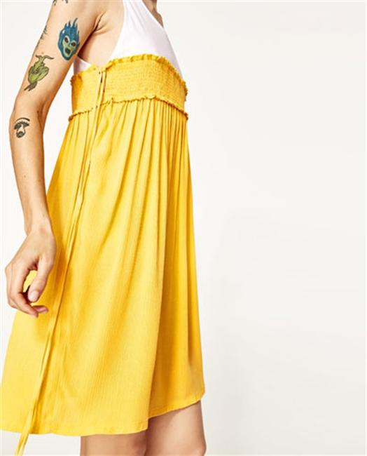 Zara short dress Yellow on Tradesy Image 4