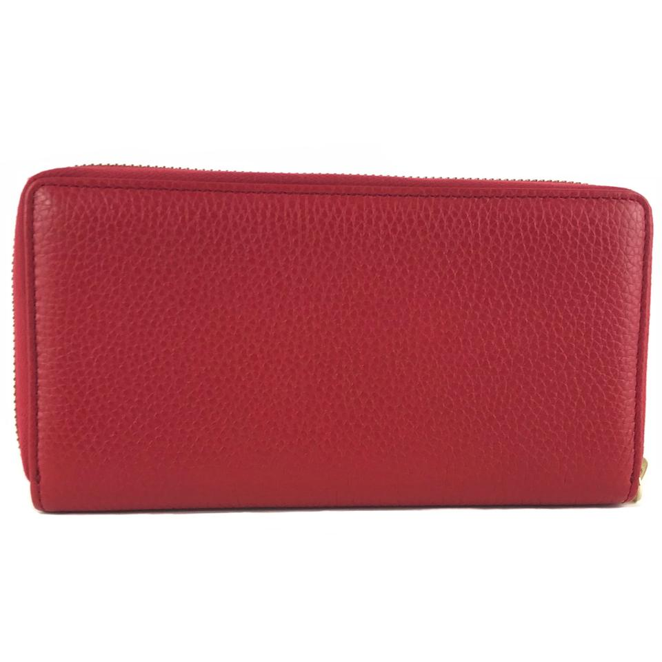 7f529112c7d3 Gucci Red Soho 308004 Leather Zip Around Wallet - Tradesy