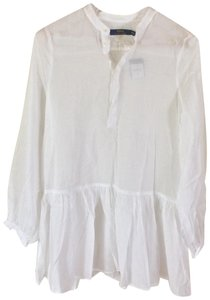 Polo Ralph Lauren Light Weight See Through Long Sleeved 3/4 Sleeve Top White