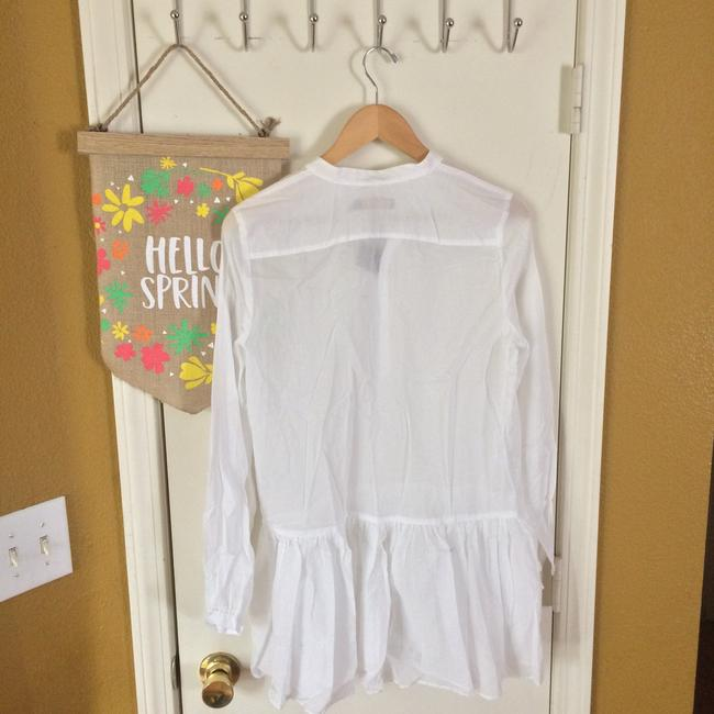 Polo Ralph Lauren Light Weight See Through Long Sleeved 3/4 Sleeve Top White Image 3