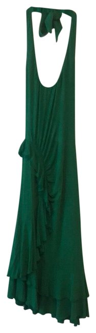 Preload https://img-static.tradesy.com/item/23180570/bcbgmaxazria-green-halter-with-ruffles-mid-length-cocktail-dress-size-0-xs-0-1-650-650.jpg