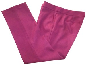 J.Crew Campbell Bi-stretch Wool Crop Trouser Pants Burgundy / Pinot Wine