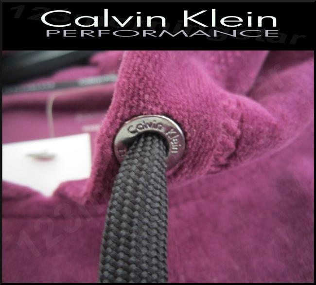 Calvin Klein Drawstring Velour Fabric 80% Cotton Cropped Pullover Style Sweatshirt Image 4