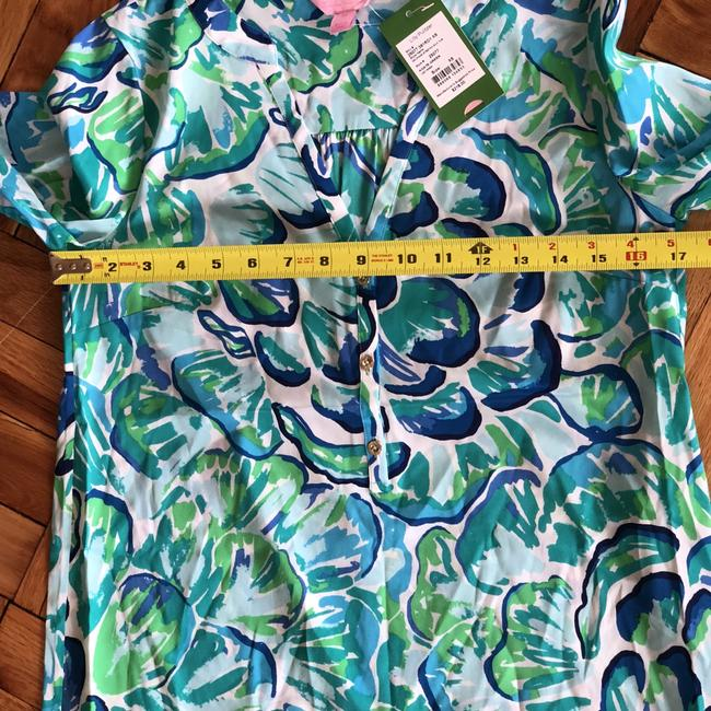 Lilly Pulitzer Longsleeve Tunic Silk Floral Print Dress Image 1