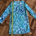 Lilly Pulitzer Longsleeve Tunic Silk Floral Print Dress Image 2