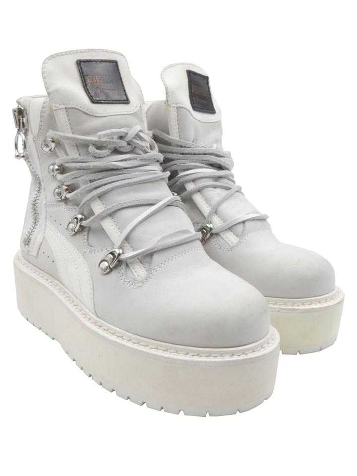 new styles 48d66 99d7d FENTY PUMA by Rihanna White Nubuck Platform Creeper Sneaker Boots/Booties  Size US 4 Regular (M, B) 6% off retail