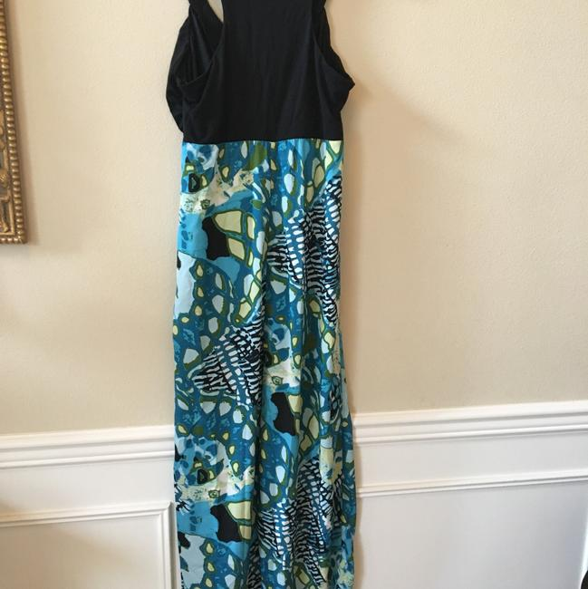 Aqua black Multi Maxi Dress by Maurices Tropical Summer New Image 10