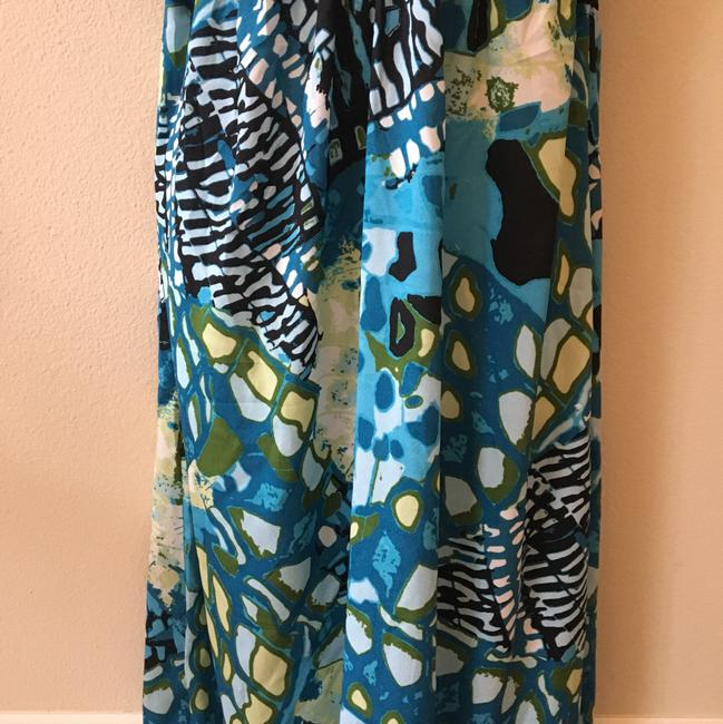 Aqua black Multi Maxi Dress by Maurices Tropical Summer New Image 4