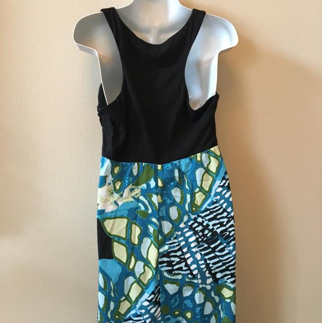 Aqua black Multi Maxi Dress by Maurices Tropical Summer New Image 5