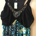 Aqua black Multi Maxi Dress by Maurices Tropical Summer New Image 9