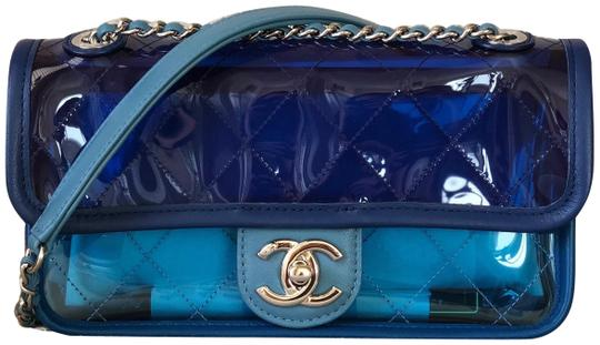 Preload https://img-static.tradesy.com/item/23180921/chanel-runway-quilted-flap-bluedark-with-silver-chain-blue-pvclambskin-shoulder-bag-0-1-540-540.jpg