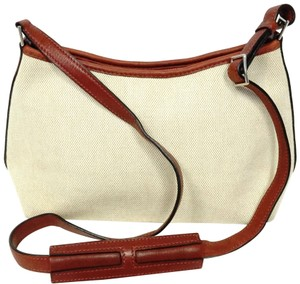 Hermès Canvas Shoulder Leather Vintage Cross Body Bag