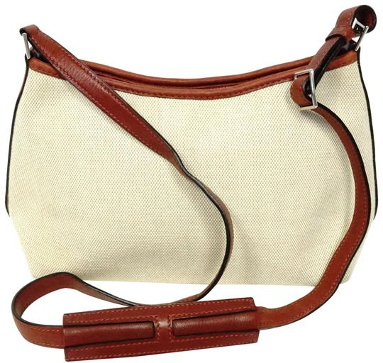 Hermès Canvas Shoulder Leather Vintage Cross Body Bag Image 0