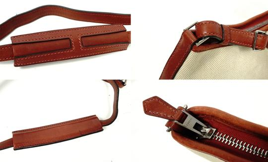 Hermès Canvas Shoulder Leather Vintage Cross Body Bag Image 8