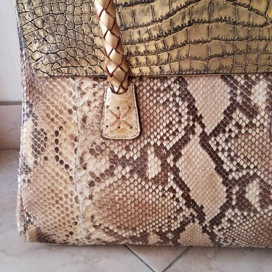 Carlos Falchi Satchel in gold Image 1