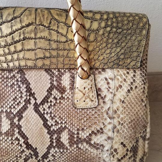 Carlos Falchi Satchel in gold Image 3