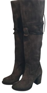 FREEBIRD by Steven Over The Knee Tall Western Brown Boots