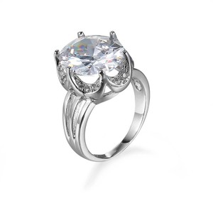 Other White 8 Carat Gold Color CZ Women Ring