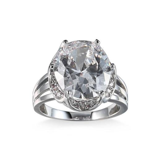 Other White 8 Carat Gold Color CZ Women Ring Image 1