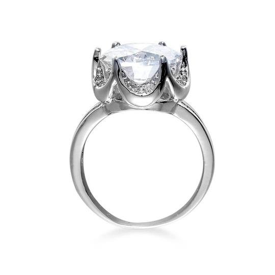 Other White 8 Carat Gold Color CZ Women Ring Image 2