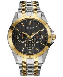 Bulova Bulova Men's Two-Tone Stainless Steel Bracelet Watch 43mm 98C120