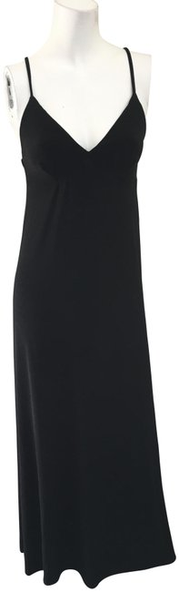 Preload https://img-static.tradesy.com/item/23181108/norma-kamali-black-sikly-slip-sexy-sleeves-cocktail-long-casual-maxi-dress-size-2-xs-0-1-650-650.jpg